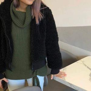 Zara faux fur wind jacket